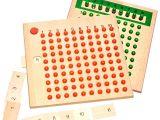 Montessori Ahşap Çarpma bölme eğitim tablası